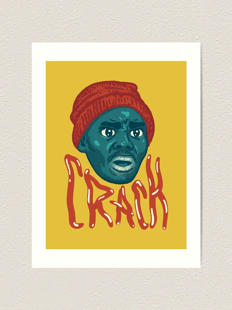 tyrone biggums crackhead dave chappelle show crack a head black guy meme original art art print by schwartzog redbubble redbubble