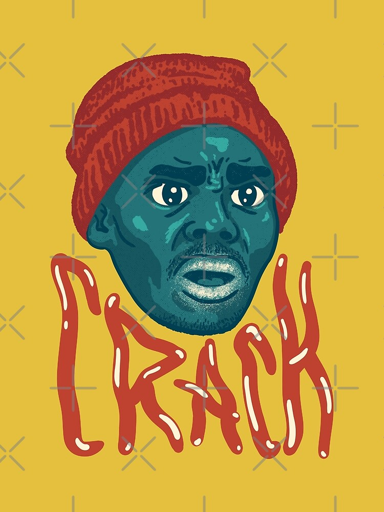 tyrone biggums crackhead dave chappelle show crack a head black guy meme original art greeting card by schwartzog redbubble redbubble