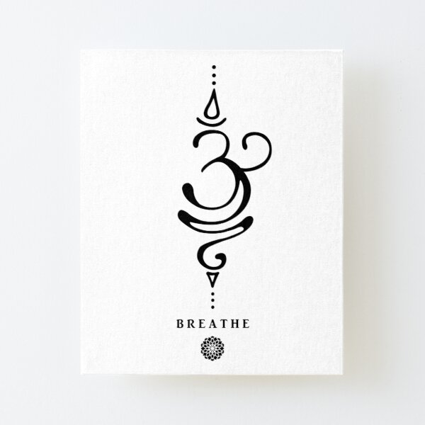 Sanskrit Breathe Symbol Canvas Mounted Print