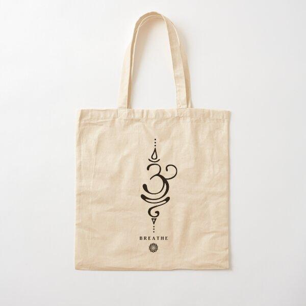 Sanskrit Breathe Symbol Cotton Tote Bag