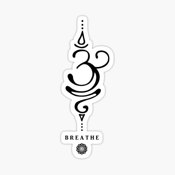 Sanskrit Breathe Symbol Sticker