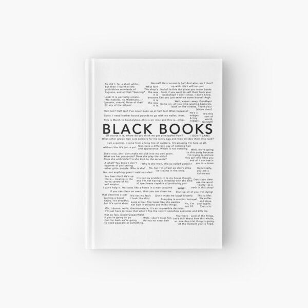 Black Books - Quotes Hardcover Journal