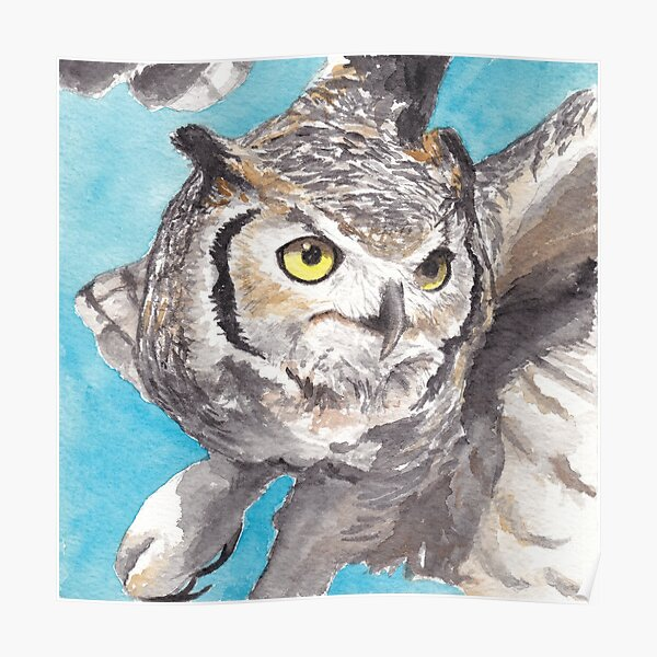 Great Horned Owl, Sonoran Desert Poster