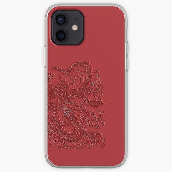 Red Asian Japanese Dragon iPhone Case iPhone Soft Case