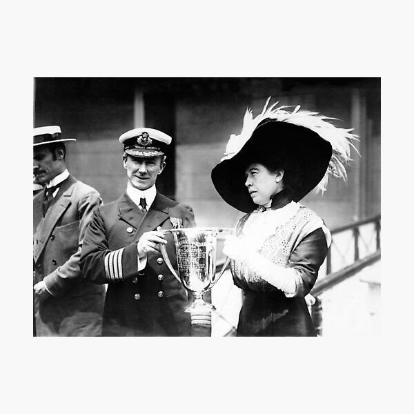 Unsinkable Molly Brown Presenting Award To RMS Carpathia Captain - 1912 Photographic Print