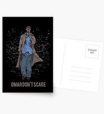 Omar Don't Scare Postcards