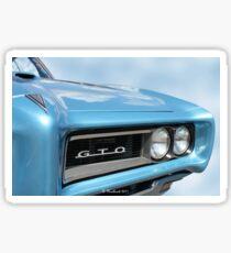 1968 Pontiac GTO - Beauty And Brawn Sticker