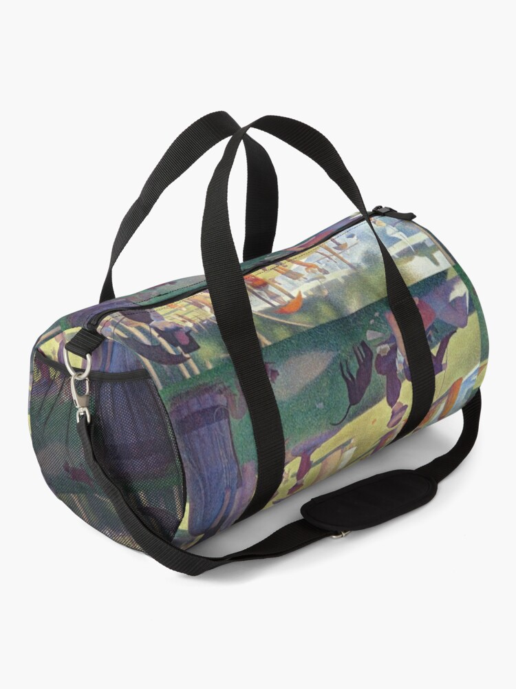 Alternate view of Georges Seurat Sunday Afternoon on the Island of La Grande Jatte Duffle Bag