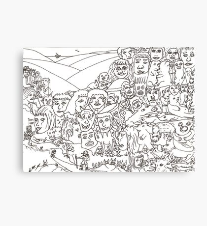 Peoplescape drawing Canvas Print