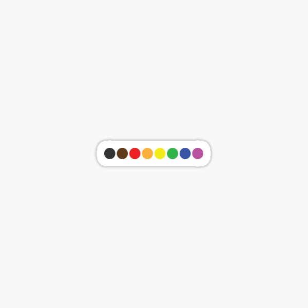 Subtle Minimalist Gay Pride Flag Dots Sticker