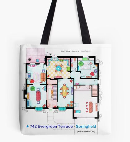 House of Simpson family - Ground Floor Tote Bag