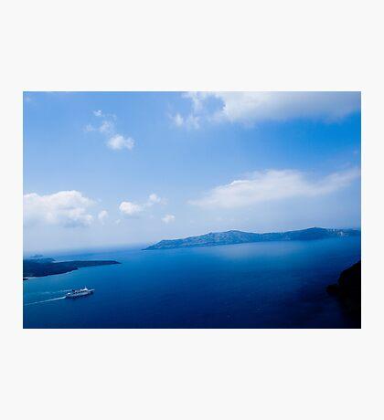 Cruiser in Santorini, Greece VRS2 Photographic Print