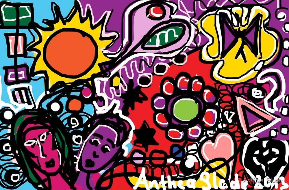 Vibrant - An Imagination filled with colour by Anthea  Slade