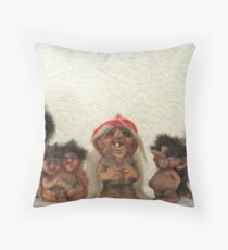 Troll-la-la Throw Pillow