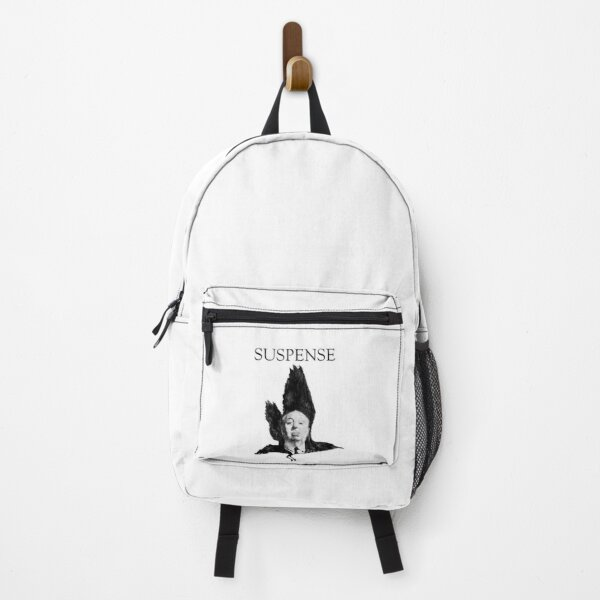 Distinguished Suspense: Watercolor portrait of Sir Alfred Hitchcock Backpack