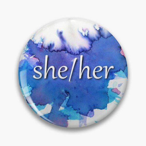 She/her bi pride pronoun pin Pin