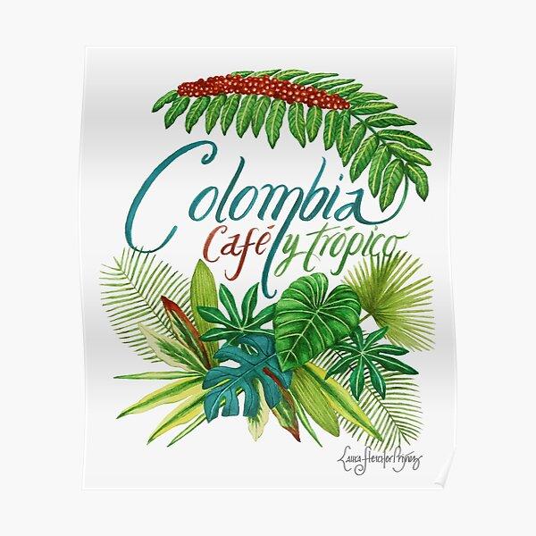Colombia, Café y trópico Póster
