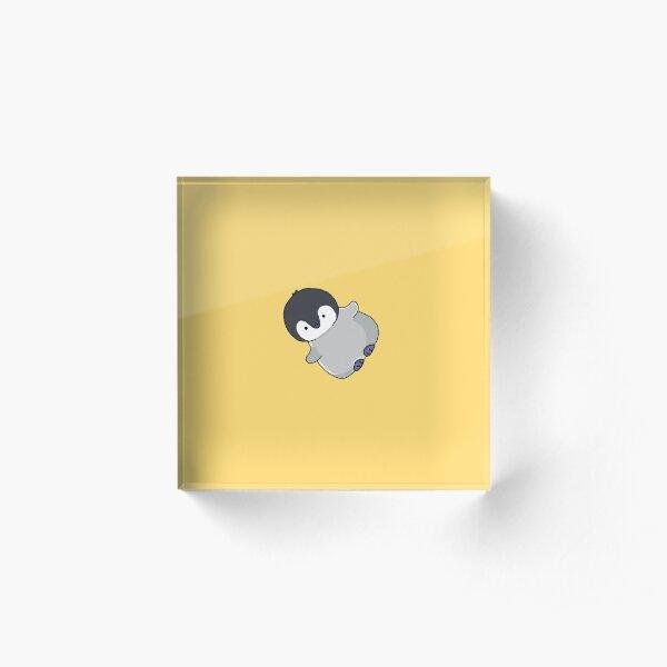 glücklicher kleiner Pinguin Acrylblock