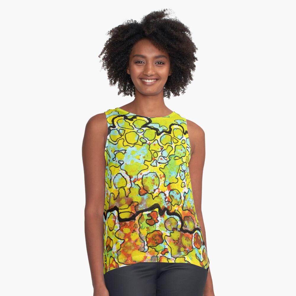 6, Inset A Sleeveless Top