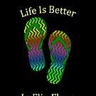 Life Is Better In Flip Flops by pjwuebker
