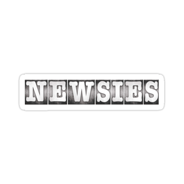 Quot Newsies Logo Quot Stickers By Tpejoves Redbubble