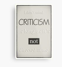 Humorous Poster - Criticism - Neutral Metal Print