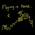 Flying Birdy Greeting Card by shady-pixel