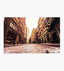 Lámina fotográfica Stone Street - Lower Manhattan