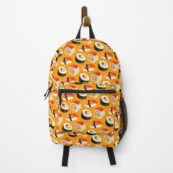 Sushi Pattern - Orange Backpack