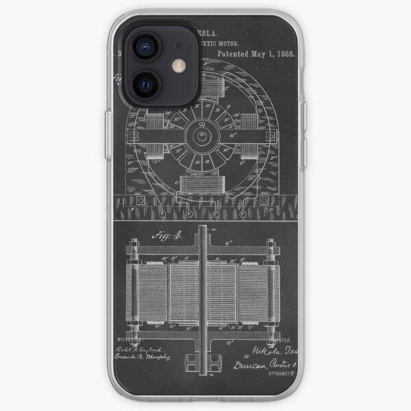 Tesla Coil Patent Art iPhone Soft Case