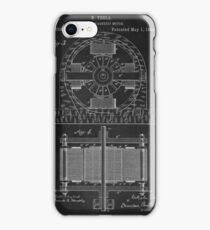 Tesla Coil Patent Art iPhone Case/Skin