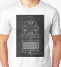 Tesla Coil Patent Art Unisex T-Shirt