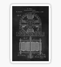 Tesla Coil Patent Art Sticker