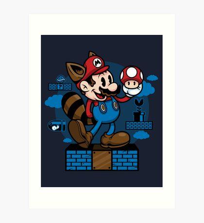 Vintage Mario Art Print