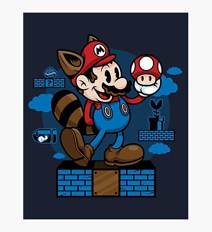 Vintage Mario Photographic Print