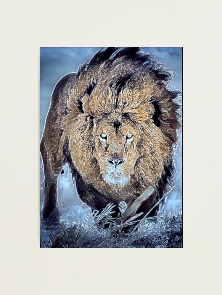Alternate view of LIONHEART Photographic Print