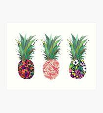 Ananas Kunstdruck