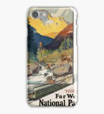 Vintage poster - National parks iPhone Case/Skin
