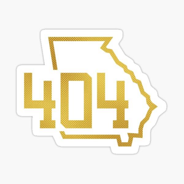 Georgia 404 Area Code in Gold Sticker