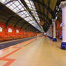 Platform 4, Darlington Bank Top Station, England by Ian Alex Blease