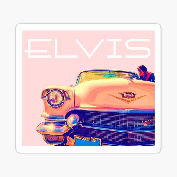Elvis Presley Pink Cadillac Sticker