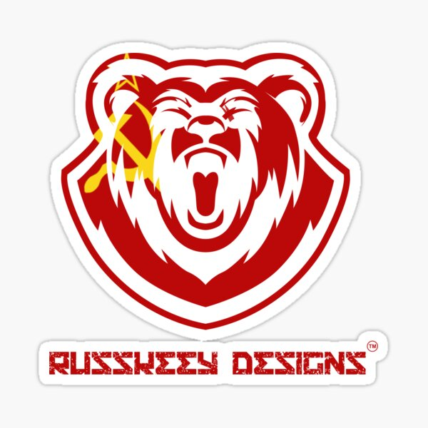 Russkeey Designs Logo (USSR) Sticker
