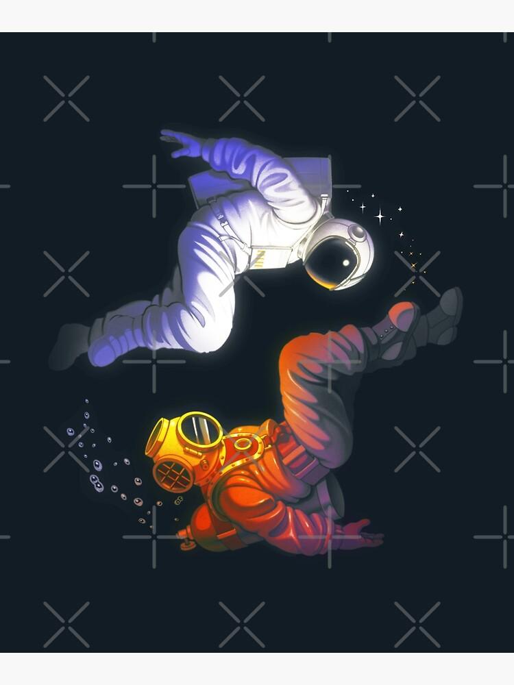 Yin Yang Astronaut Scuba by tobiasfonseca