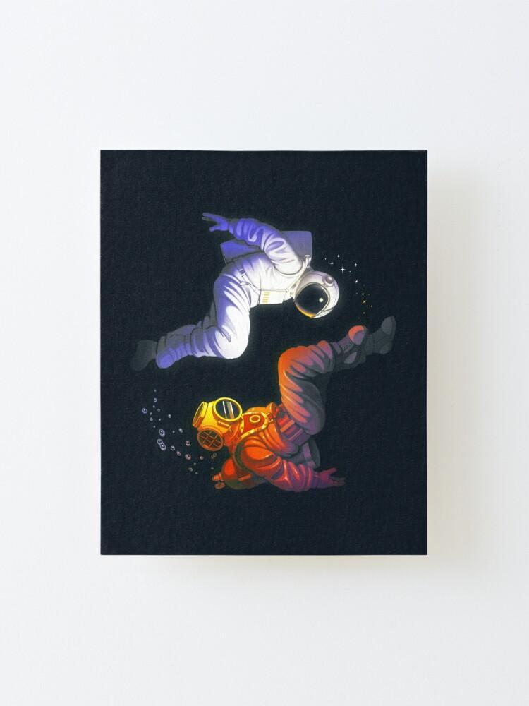 Alternate view of Yin Yang Astronaut Scuba Mounted Print