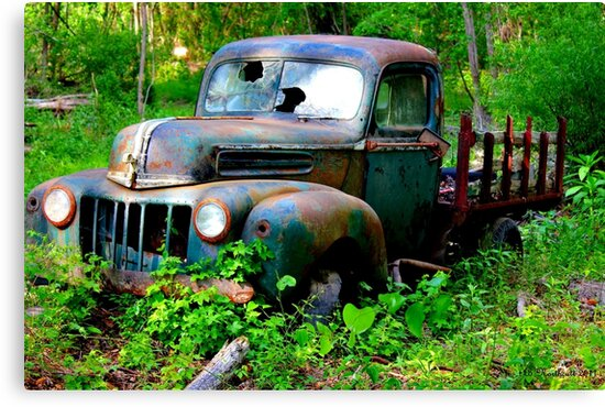 1942 Ford Pickup Truck - Abandoned in Cass County, Texas by Betty Northcutt