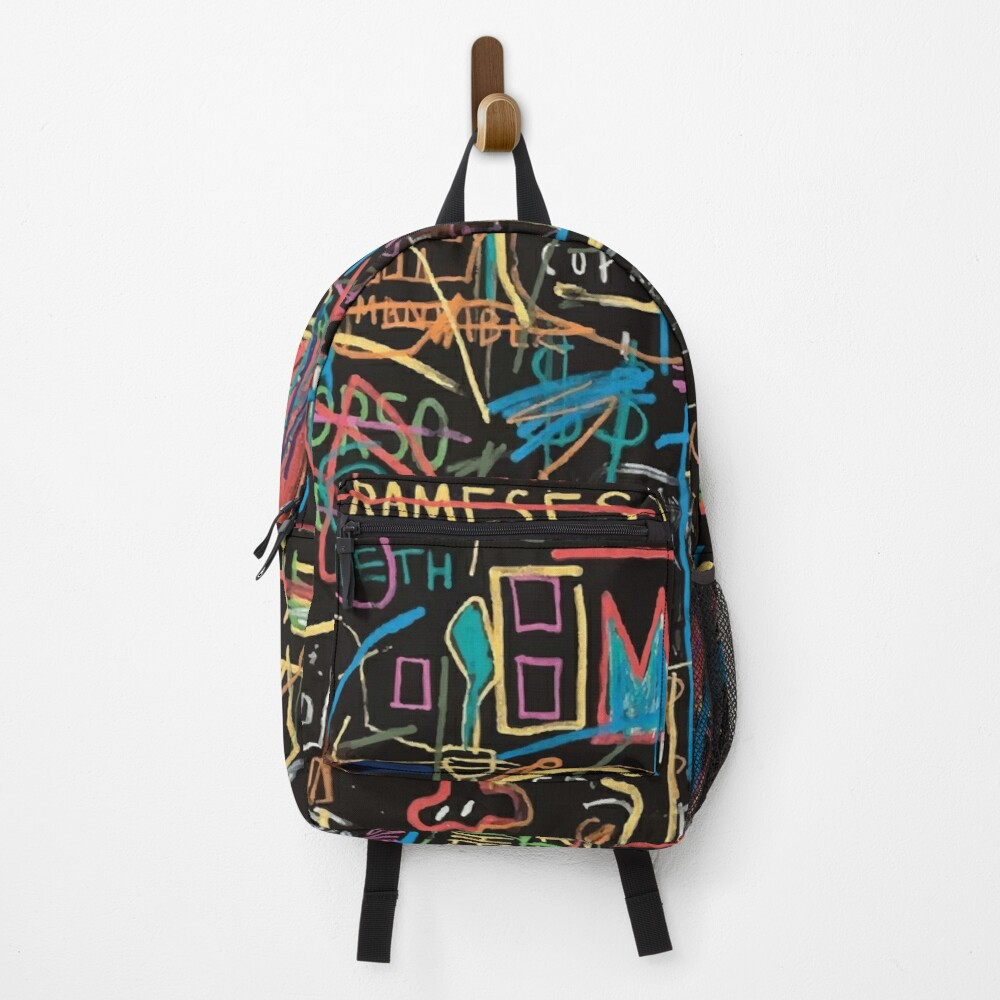 Vectorised famous New York street art / pop art from the 70s. Backpack