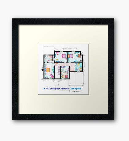 House of Simpson family - First Floor Framed Print