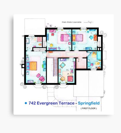House of Simpson family - First Floor Canvas Print