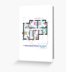 House of Simpson family - First Floor Greeting Card