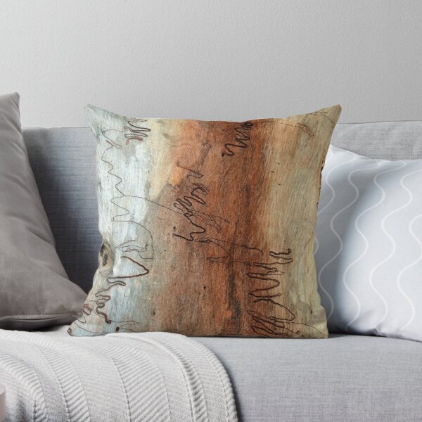 Scribbly Gum Throw Pillow